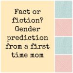 Fact or Fiction? Gender Predictions from a First Time Mom