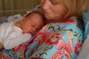 Jack and I the day we left the hospital.