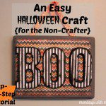 I Can Do That! DIY Halloween Sign for the Non-Crafter