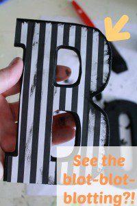 step 4 paint blotting