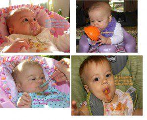 Ilana eating solids