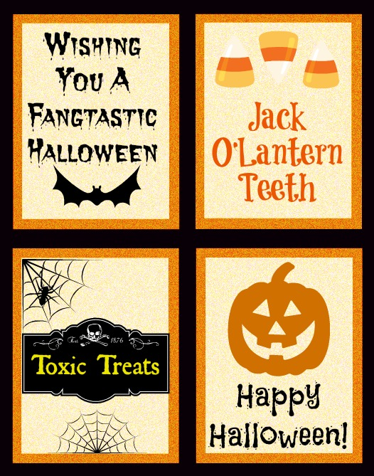 picture about Halloween Printable Decorations referred to as Ghoulish Decorations- Cost-free Halloween Printables!