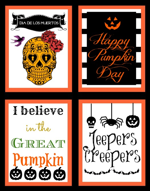 graphic regarding Happy Halloween Signs Printable named Ghoulish Decorations- Absolutely free Halloween Printables!