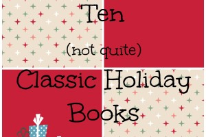 holiday books collage