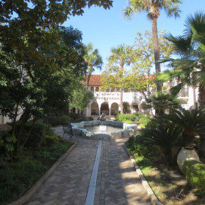Courtyard at the McNay Art Museum