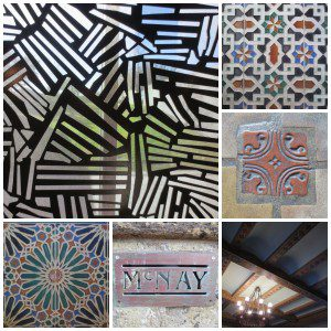 Architectural details at the McNay Art Museum