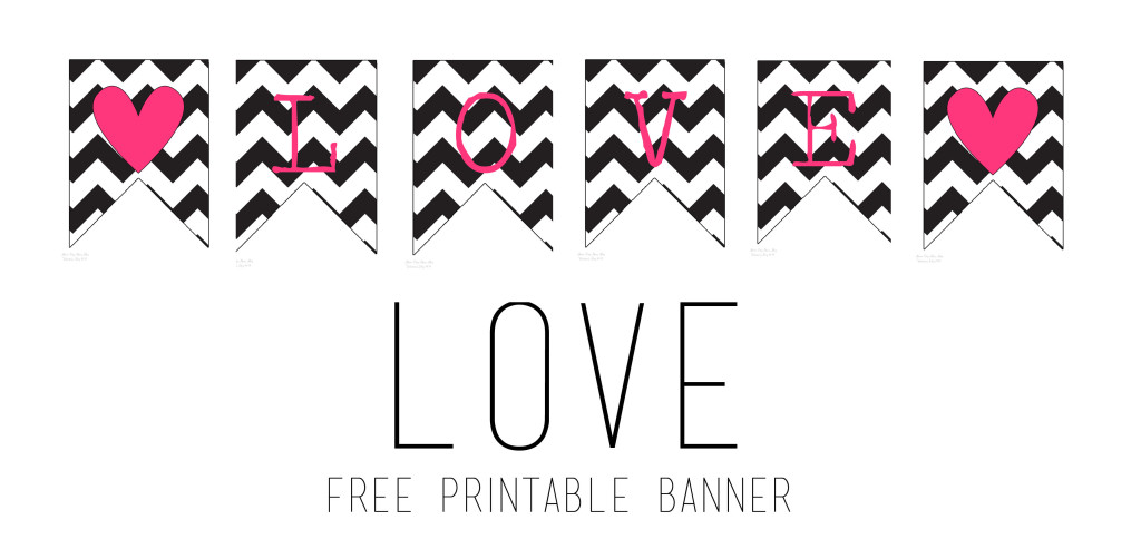 photograph regarding Valentine Banner Printable named Do it yourself Printable Valentines Banners