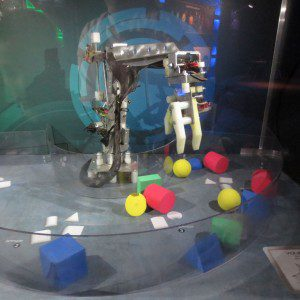 Robot arm at Alien Worlds and Androids at the Witte Museum | Alamo City Moms Blog