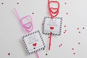 free printable straw valentine for kids