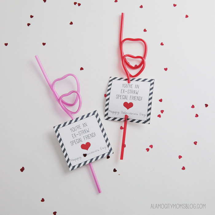 free printable straw valentine for kids