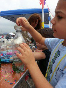 "Making a ""Calm Down"" Bottle at the Foundation Family Fest"