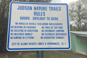 Judson Nature Trails in Alamo Heights