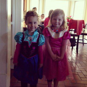 Sorry little girl, no Elsa but be grateful your mom snatched up the last Anna dress at Target