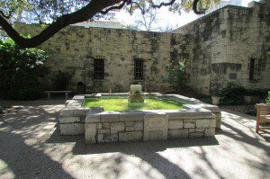 Fountain at the Alamo, San Antonio, Texas