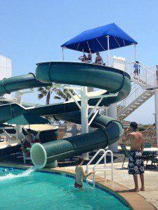 Super fun pool slide at Port Royal
