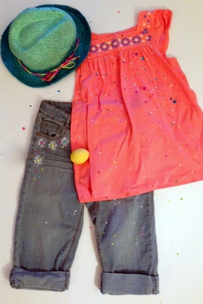 7744f1430 Cherokee Girls' Fashion Top, $12.99 and Circo Girls' Jeans, $14.99, and  Exhilaration Ombre Fedora, all at Target.