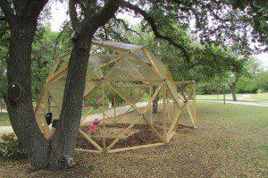 sandbox in the eco echo dome sandbox, San Antonio Botanical Garden