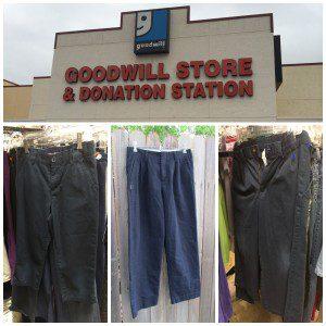 Navy school uniform pants at Goodwill San Antonio | Alamo City Moms Blog