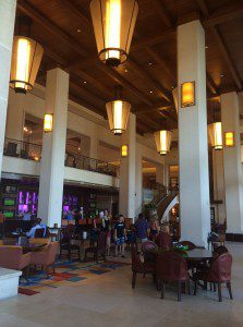 Downstairs lobby of the JW Marriott