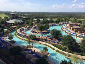 A panoramic view of the JW's River Bluff Water Experience
