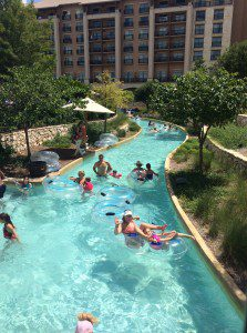 Enjoying the Lazy River in the River Bluff Water Experience