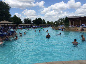 Main pools and cabanas in the River Bluff Water Experience