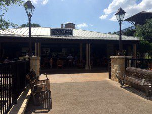 Grab a quick bite at the Rivertop grill in the JW's water park