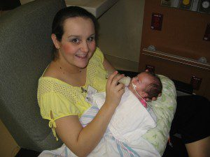 Bottle-feeding my daughter in the NICU on my very first Mother's Day