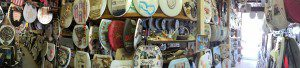 Panorama of Barney Smith's Toilet Seat Art Museum | Alamo City Moms Blog