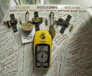 Virtual geocaching site at the Toilet Seat Art Museum | Alamo City Moms Blog