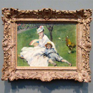Intimate Impressionism at the McNay Art Museum:  August Renoir painting of Monet's family