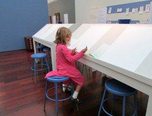 Intimate Impressionism at the McNay Art Museum: sketching tables