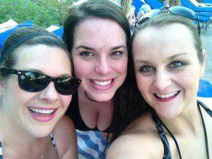 Poolside selfies during last year's girls weekend with some of my besties