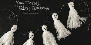 yarn tassel ghost garland