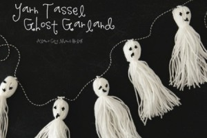 yarn tassel ghost garland
