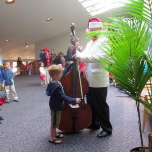 Instrument Petting Zoo at the San Antonio Symphony Holiday Pops | Alamo City Moms Blog