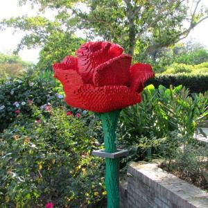 Rose made with LEGO bricks by Sean Kenney, part of Nature Connects at the San Antonio Botanical Garden | Alamo City Moms Blog