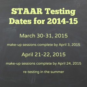 STAAR testing dates for 2014-15 | Alamo City Moms Blog