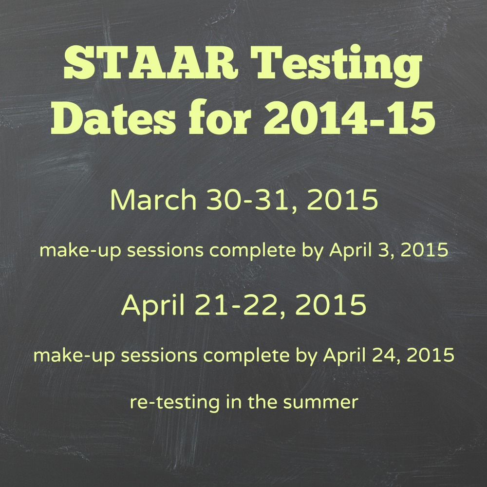 STAR Test is finally here. Before I jump into STAR test dates and tips ...