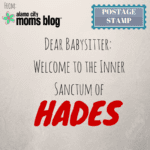 Dear Babysitter: Welcome to the Inner Sanctum of Hades