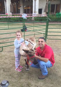 """Harper loved meeting """"Noel"""" the reindeer!"""