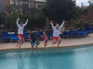 """Personally, I don't think I could """"keep calm and plunge on,"""" but I love that my hubby and daughter did!"""