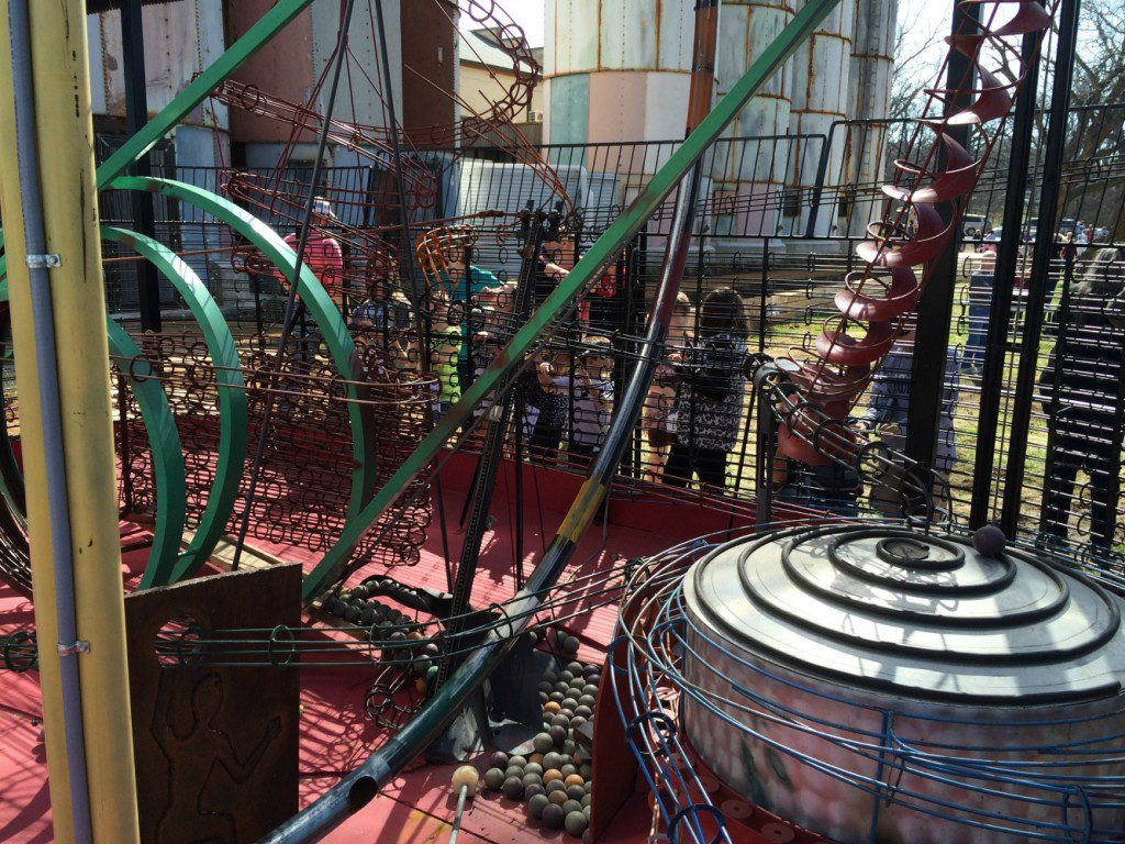 kinetic sculpture at the Hill Country Science Mill in Johnson City, Texas