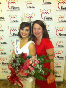 Your truly with Victoria Flores, the first Miss Fiesta to reign in the new style (2013).