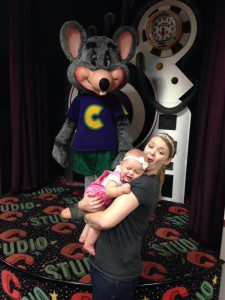 Katie's daughter feels my pain about Chuck E. Cheese.
