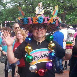 One of many crazy hats found at Fiesta!
