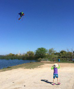 Kayaks and kites