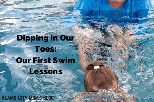 Dipping in Our Toes- Our First Swim