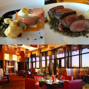 Dinner at 18 Oaks steakhouse restaurant at the JW Marriott San Antonio Hill Country Resort & Spa