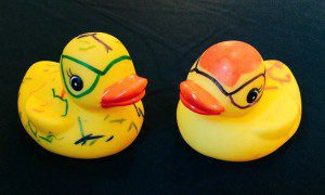 Decorating rubber ducks at the JW Marriott San Antonio Hill Country Resort & Spa